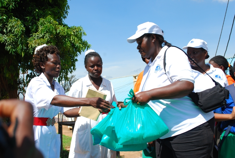 Saturday 25th April 2011 Donating to Cancer patients in Mulago